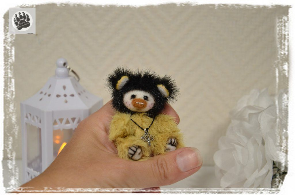 Beez 6.5cm ours miniature de collection, sculpture textile
